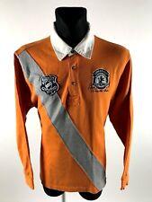 State of Art Men's Rugby Regular Fit Orange Jumper Size L