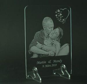 Acrylglas Fotogravur LED Beleuchtung Liebe Freunschaft Geschenk Geburtstag