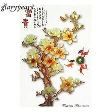 ORO cinese Blossom Fiore bonsai Adesivi Tatuaggi Temporanei Body Art 3D ART