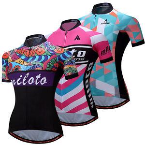 Ladies Cycling Biking Jersey Full Zip Women's Bicycle Bike Shirts Reflective
