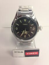 Timex Analog Casual Watch The Waterbury Silver Band Black Dial Mens TW2P75100