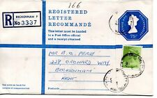 GB - REGISTERED ENVELOPE - SIZE G - 75p - BECKENHAM P - 3337