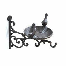 1pc Cast Iron Birdbath Hanging Plant Patio Garden Hummingbird Bird Bath Feeder