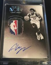 2015-2016 NOIR ANDREW WIGGINS NBA LOGOMAN LAUNDRY TAG AUTO BLACK WHITE /3