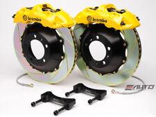 Brembo Front GT Big Brake 6Pot Caliper Yellow 355x32 Slot Rotor Golf R32 V MkV