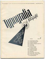 1937 Typo-Foto Special Issue TYPOGRAFIA Czech Avant-Garde Design + Print Journal