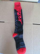 FOX COOLMAX motocross MX ATV thin socks knee high adult Medium 8 - 10 blk/red