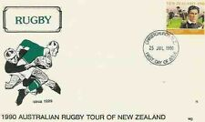 25.7.90 AUSTRALIAN TOUR OF NEW ZEALAND RUGBY COMM COVER WITH GEORGE NEPIA STAMP