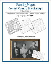Family Maps Copiah County Mississippi Genealogy MS Plat