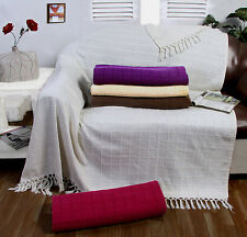 100% Cotton Large Sofa Throw / Cover Luxury Heavy Quality Sofa Throw Over