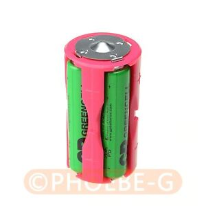 12 pcs Parallel Adapter Battery Holder Case Box Convertor 4 AAA/LR03 to C Size
