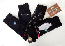 TOMMY BAHAMA Men's CASUAL CREW Socks SIP HAPPENS 4 Pairs Black OSFM - New!