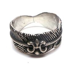 Navajo Handmade Sterling Silver Feather Ring Size 7.5