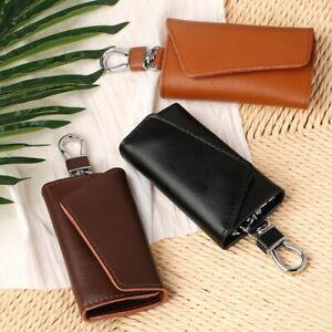 Multifunction High Quality Black/Brown Leather Key Package Keys Holder Storage