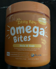 Zesty Paws Omega Bites, skin And Coat With AlaskOmega. 90 Dog Chews. Chicken Fla