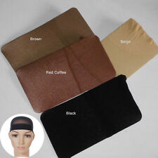 3 Pc Wig Cap Breathable Stretchable Nylon Stretch Stocking Cap coffee Black