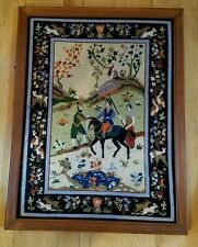 Oriental Style Needlepoint In Picture Frame 18x23