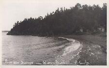 Plage & Cabines Anse aux Sauvages ST-JEAN-PORT-JOLI l'Islet Quebec 1940-60 RPPC