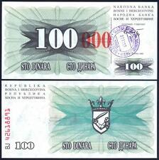 BOSNIA HERZEGOVINA 100.000 Dinara 23.10. 1993 UNC P 56 h