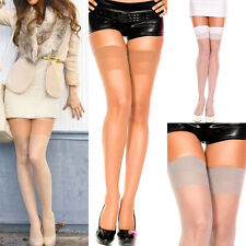 Classic Thigh High Hi Sheer Solid Colors Stockings Tights Over The Knee M-XL Set