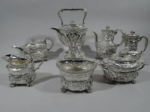 Tiffany Coffee & Tea Set - 6074 6237 6238 - American Sterling Silver - 1892/1902