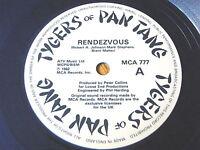 "TYGERS OF PAN TANG - RENDEZVOUS     7"" BLUE VINYL"