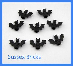 Lego Animal - 8x Black Bat - Castle Batman Pirates City - 30103 - New Pieces