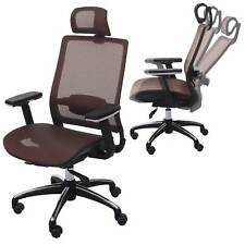 Chaise de bureau HWC-A20 chaise pivotante, ergonomique, tissu ~ brun rouge