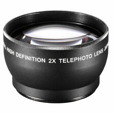 72MM 72 mm TELE 2X/2 TELEPHOTO HD Lens For Canon 18-200 IS Sigma 18-200mm
