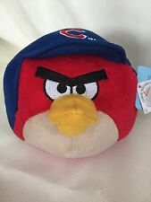 "NEW CHICAGO CUBS ANGRY BIRDS RED 5.5"" STUFFED PLUSH ANIMAL"