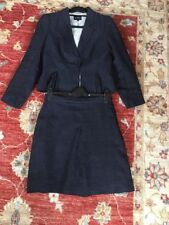 HOBSS 100% Flax/linen Skirt And Jacket Size 12 Excellent Condition