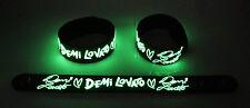 Demi Lovato Nuevo! Brillan En La Oscuridad De Goma Brazalete Pulsera Let It Go gg161