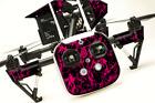 DJI Inspire 1 Quadcopter/Drone, Transmitter, Battery Wrap/Skin | Pink Flames