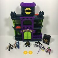 Imaginext Arkham Asylum Playset With Rare Figures & Accessories Mattel DC Comics
