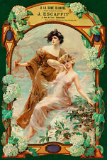 A La Dame Blanche Fabrique and Lingerie A1 High Quality Canvas Print