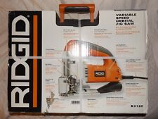 "NEW RIDGID R3120 Top Handle 2-1/8"" Variable Speed Orbital Jig Saw CASE & MANUAL"