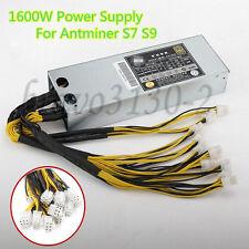 1600W 92% Platinum Power Supply For Bitcoin Miner S7 S9 Mining Machine 12.5T/13T