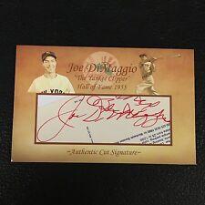JOE DiMAGGIO SIGNED AUTOGRAPHED CUSTOM MADE CUT SIGNATURE 4X6 CARD YANKEES SGC
