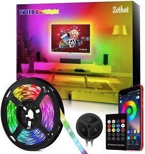 """Striscia LED con controllo Bluetooth per illuminazione retro TV fino a 65"""" 3.5 m"""