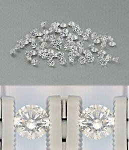 Natural Diamonds 2 mm Each Size VS2 Clarity G Color 3.00 Ct. 100 Pieces Lot