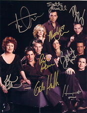 Queer As Folk EXTREMELY RARE STUDIO PROMO ENTIRE CAST (9) SIGNED RP 8X10 WOW!!!