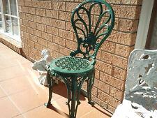VINTAGE CAST IRON GARDEN CHAIR SEAT