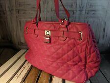 Nine West Purse handbags bag tote shoulder casual pink quilted lock