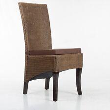 Stuhlkissen Sitzpolster Sitzkissen Stuhlauflage braun 5cm dick mit Bindebänder