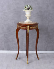 Flower Stand Baroque Table Stool Marble Top Side Table Antique