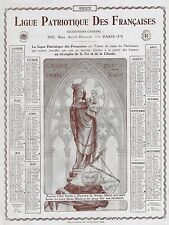Calendar Lithograph -1922- NOTRE DAME DE PARIS - PRICZ POUR NOUS