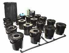 16 POT RDWC HYDROPONIC SYSTEM with CHILLER iws alien canna boost advanced wilma