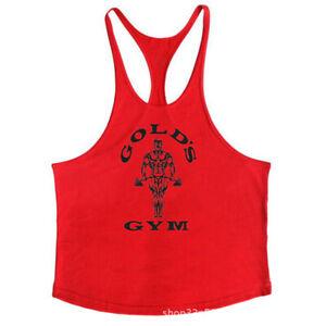 Muscle Sport Workout Vest GOLD'S GYM Mans Bodybuilding String Tank Top 2021 USA