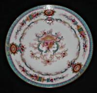 "Royal Cauldon SOUVENIR Aqua Border, Scalloped Edge Bread Plate, 5 5/8"""
