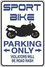 "*Aluminum* Sport Bike Parking Only 8""x12"" Metal Novelty Sign  S412"